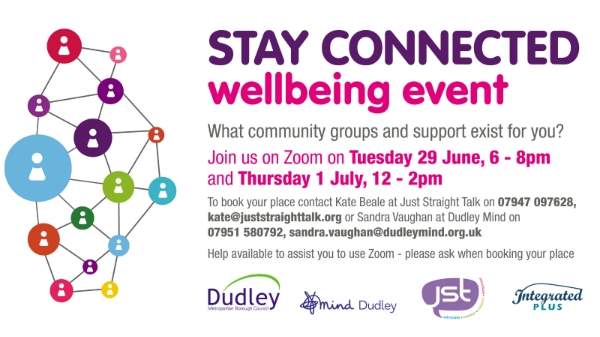 Dudley stay connected wellbeing virtual event – networkers wanted