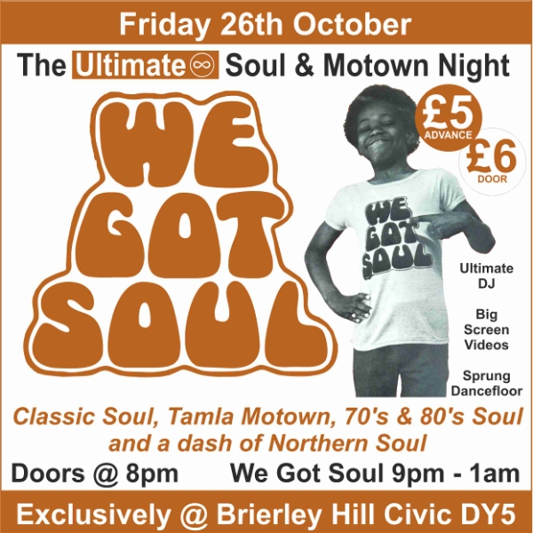 **Win Tickets To Our Ultimate Soul & Motown Night!**