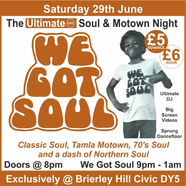**Win Tickets To Our Next Soul & Motown Night!**