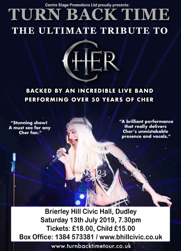 **Win Tickets To Our Brilliant Cher Tribute - Saturday 13th July**