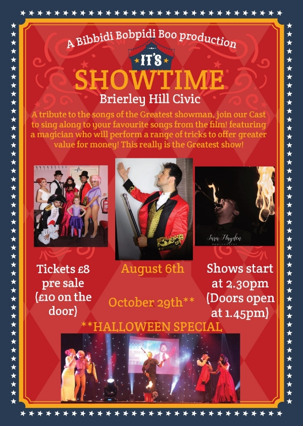 **Tomorrow 'Its Showtime!' - Doors Open at 1.45pm**