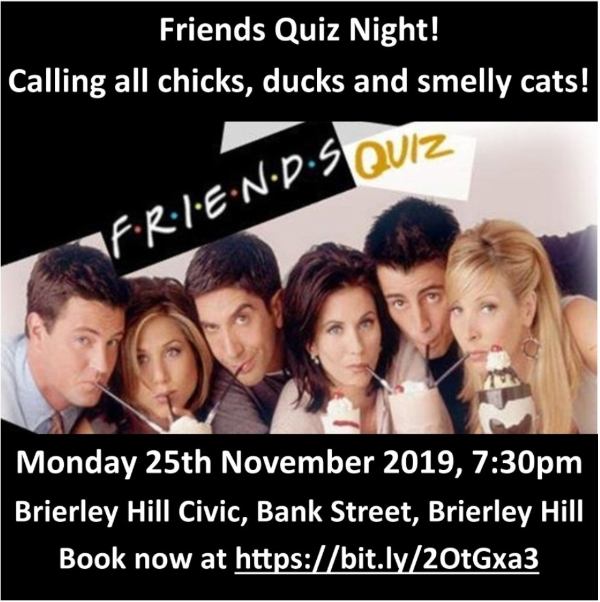 **Friends Quiz Night This Monday!**