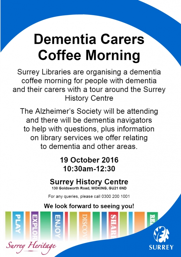 Dementia Carers Coffee Morning