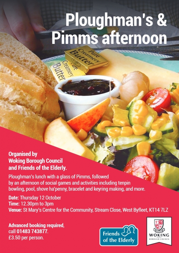 Ploughman's & Pimms Afternoon - Health & Wellbeing