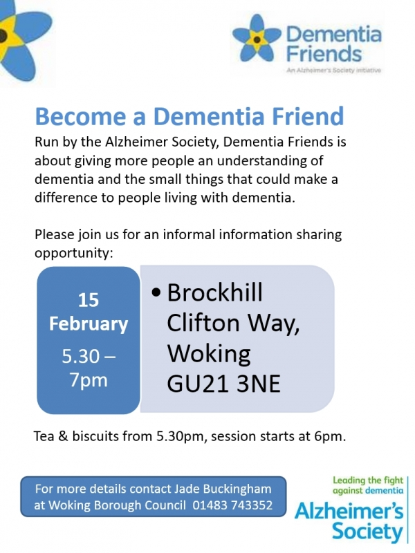 Become a Dementia Friend - Places still available