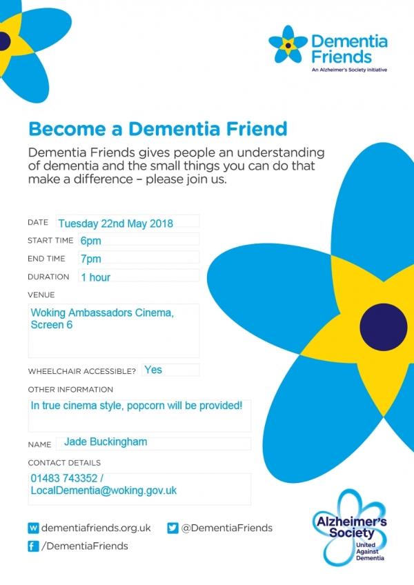 Become a Dementia Friend (free)
