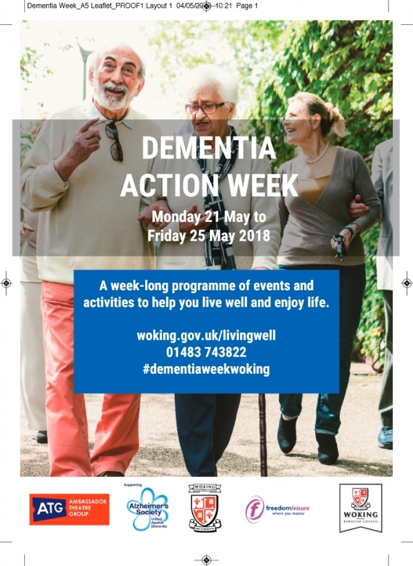 Dementia Action Week - Woking 22nd 23rd 24th & 25th May 2018