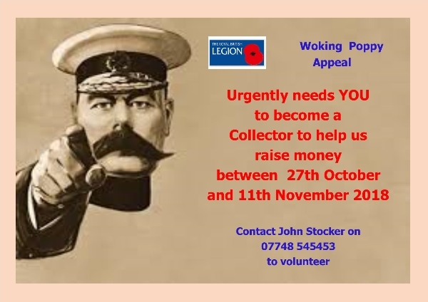 Woking Poppy Appeal - Volunteers needed