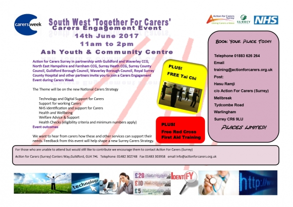 South West Surrey Carers Engagement event