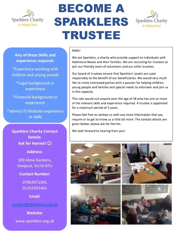 Become a Sparklers Trustee