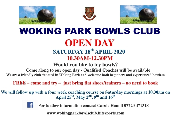 WOKING PARK BOWLS CLUB OPEN DAY