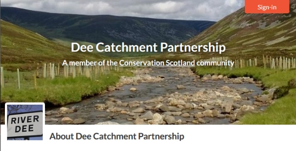 Welcoming new member to Conservation Scotland: Dee Catchment Partnership