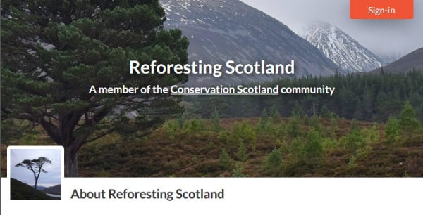 Welcoming new member to Conservation Scotland: Reforesting Scotland