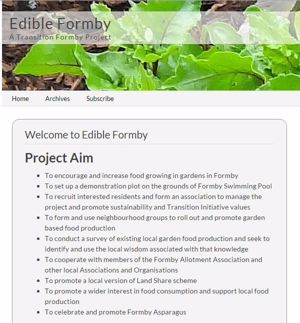 Join the EdibleFormby Project team