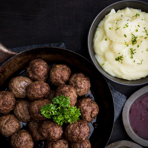 Swedish meatballs   press