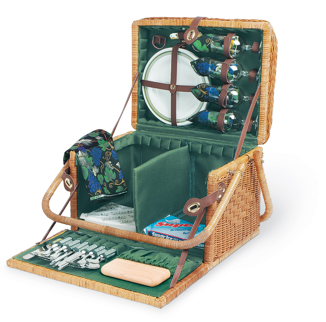 Best Picnic Basket For 2 : Four person picnic baskets for