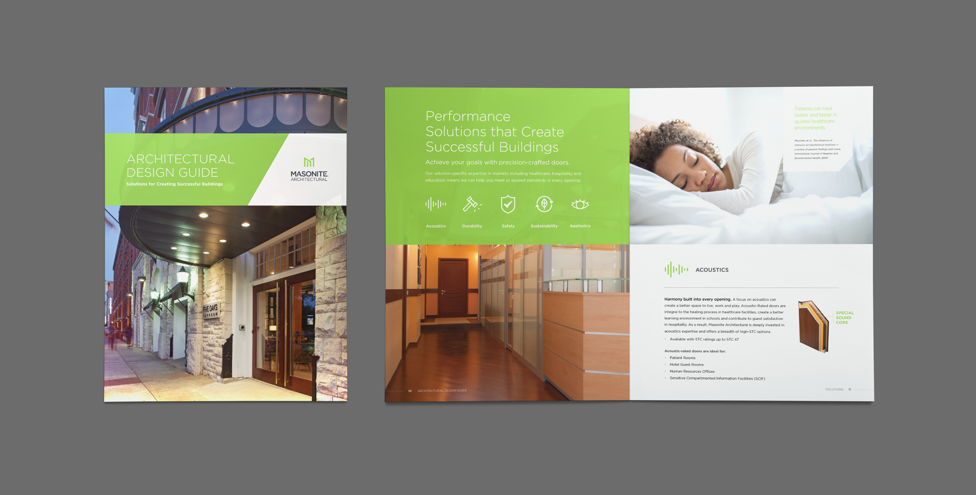 Masonite Architectural design brochure created by Interrupt