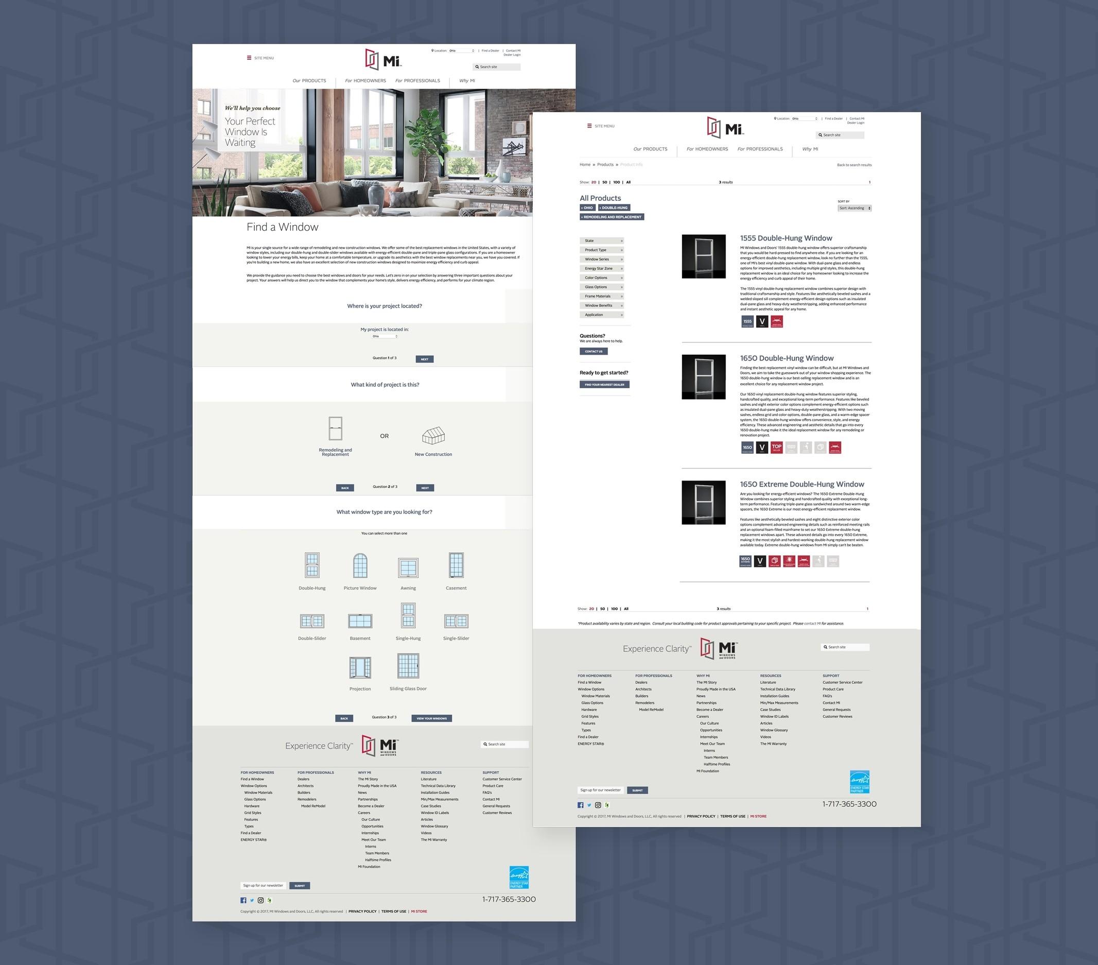 MI Search - Website design