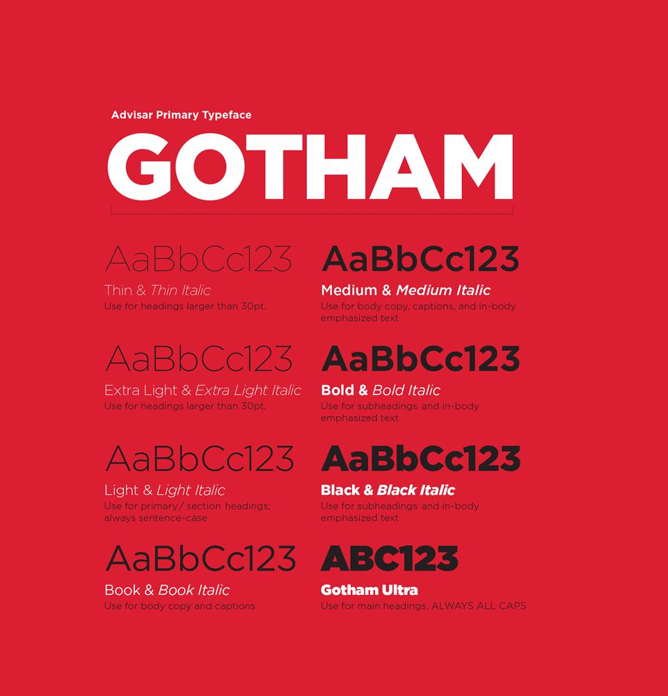 Advisar brand font development