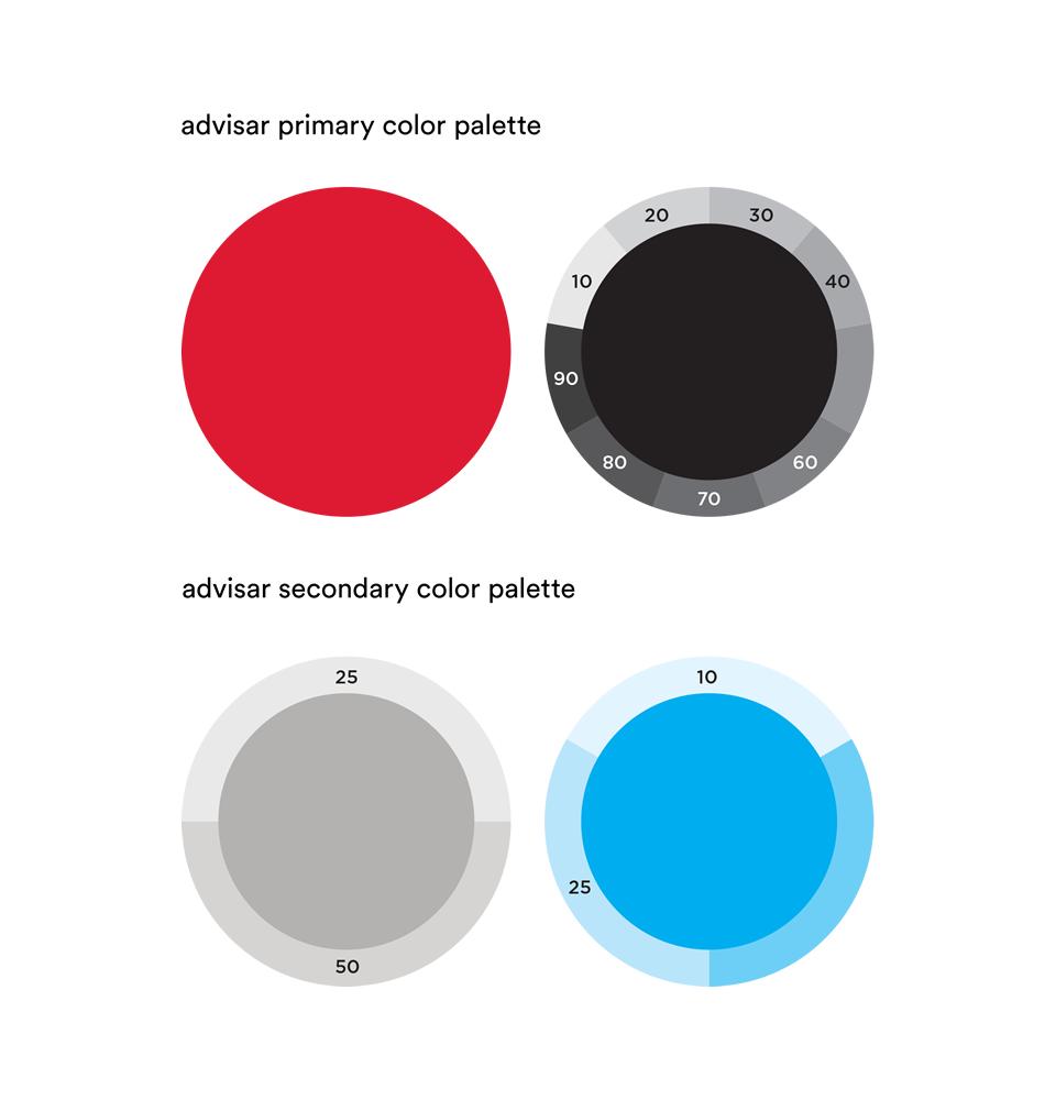 Advisar brand colors