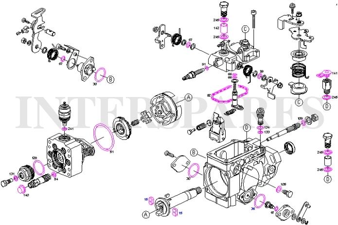 bosch kit r u00e9paration pompe  u00e0 carburant joint peugeot 306