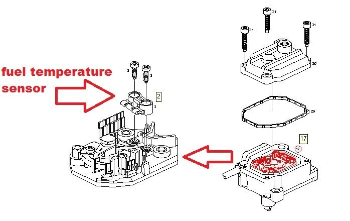 BOSCH fuel temperature sensor for VE diesel fuel pump 2