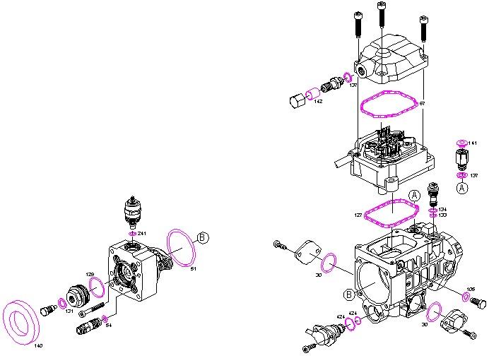 diesel pumpe reparatursatz dichtungen mercedes