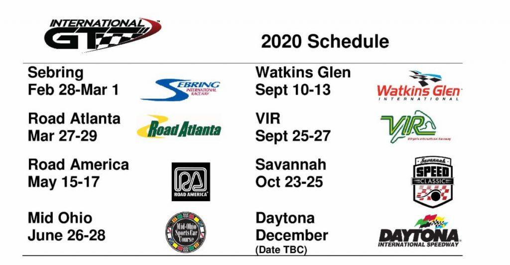 International GT 2020 race schedule