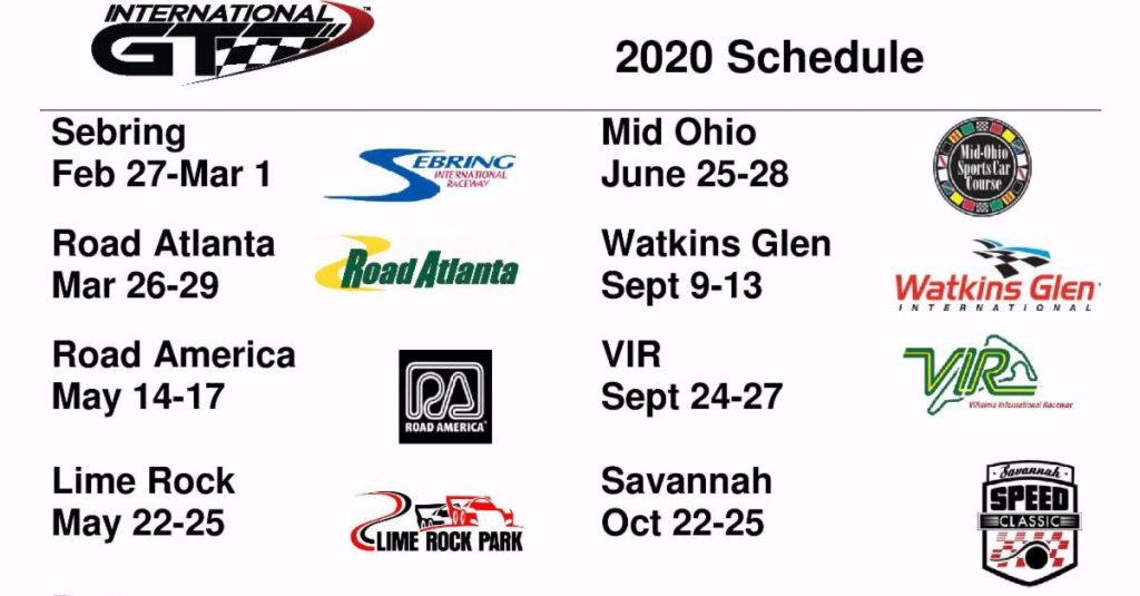 2020 International GT schedule