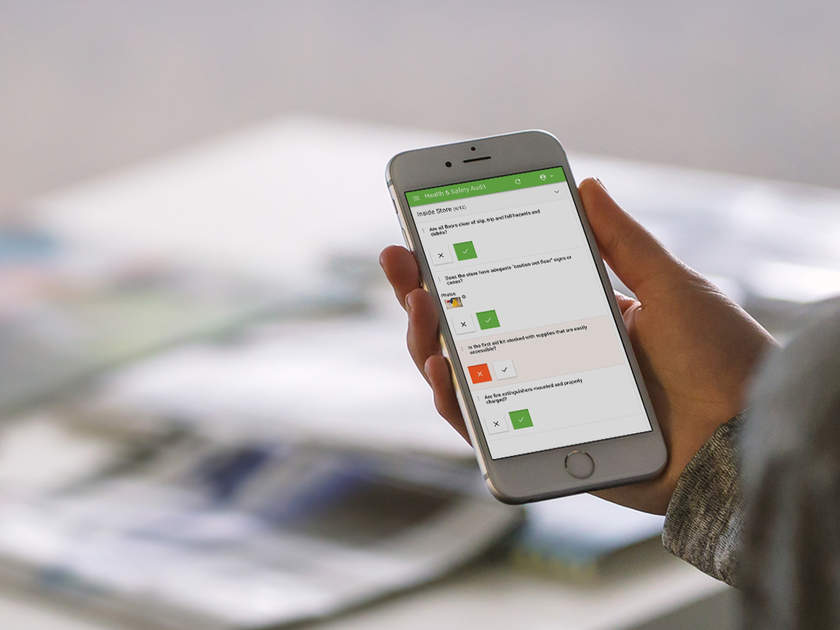 IntouchCheck Mobile Forms Software on Smartphone