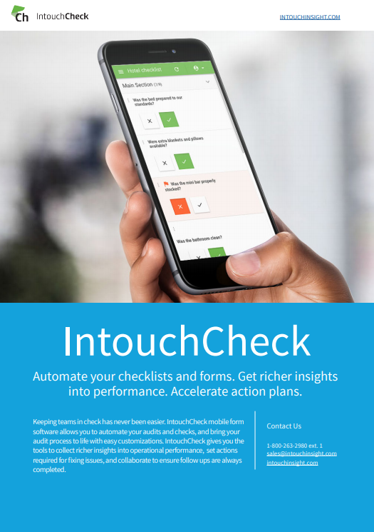 Facilities Management | Mobile Form Software | Intouch Insight