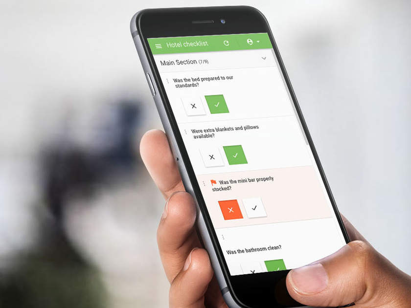Mobile Forms Software on a phone