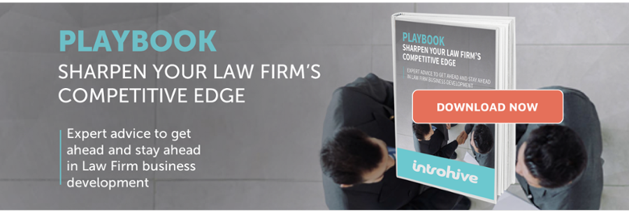 Introhive Law Firm playbook for business development