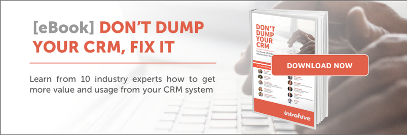 Introhive ebook - Don't Dump Your CRM