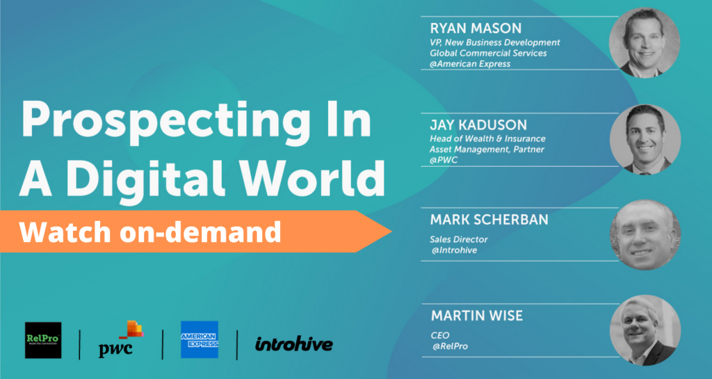 Prospecting in a Digital World Webinar