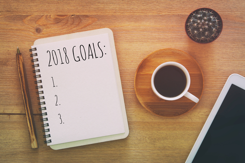 A Notebook With 2018 Goals