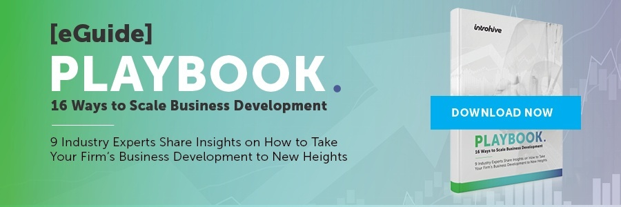 business development playbook for professional services