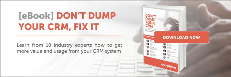 Download eBook - Don't Dump Your CRM, Fix it