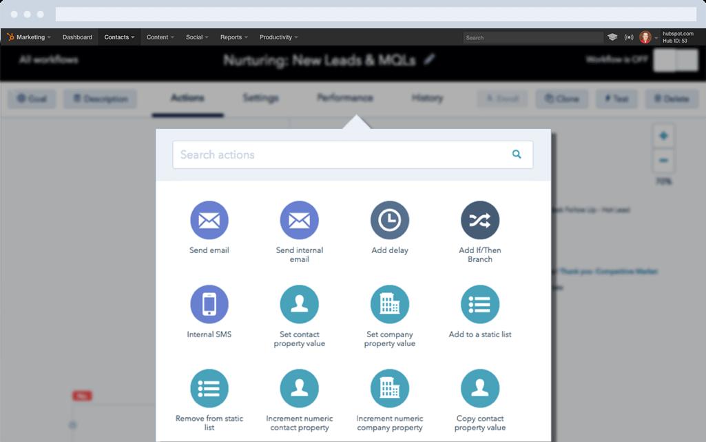 HubSpot Marketing Hub Screenshot