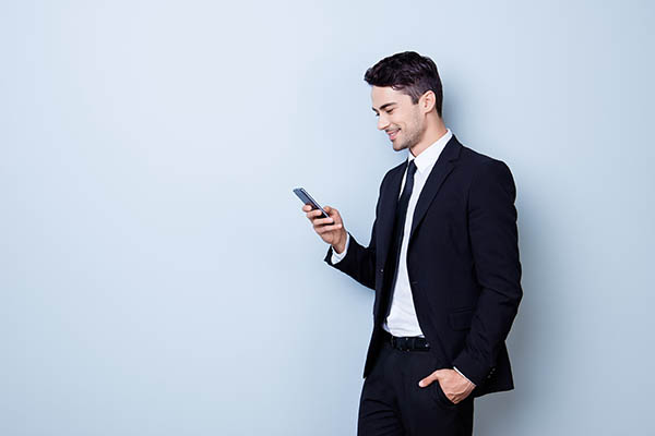 Lawyer Looking At His Phone