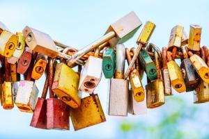 Padlocks Locked on a Chain