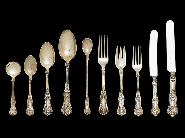 Lot 273 Sterling silver flatware service 1880 Dominick u0026 Haff Freemanu0027s (December 2014) Realized Price $2875 & Why is Sterling Silverware Making a Comeback?
