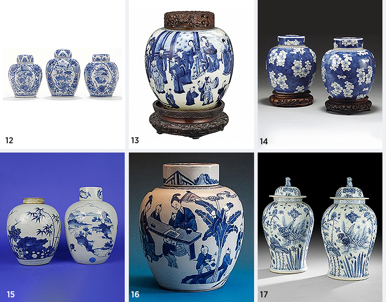 Blue And White Jars Part - 47: Traditional Blue U0026 White Ginger Jars