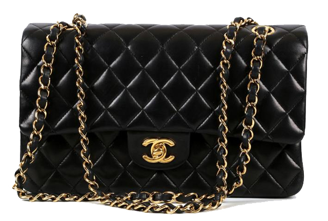 bedbdbdf76a3 Chanel 2.55 medium classic flap from 2006, black quilted lambskin, sold at  Chiswick Auctions for £2,040 (October 2016).