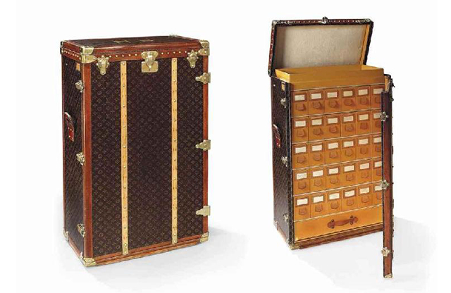 807ca262763 Louis Vuitton monogrammed shoe trunk, once owned by Norma Shearer, 1930s,  Christie's (January 2014)