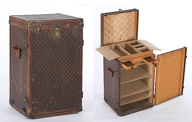 vintage louis vuitton trunk. vintage louis vuitton lingerie/dresser steamer trunk, aspire auctions fine art \u0026 antiques (february 2014) trunk