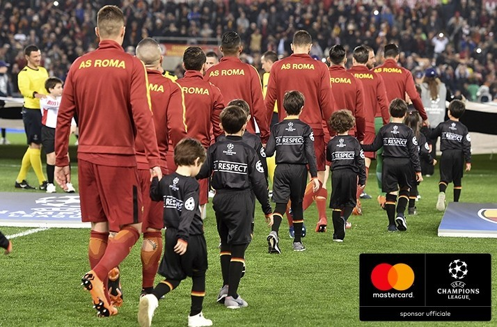 000cc58fb Watch your child walk onto the pitch as a player mascot at a UEFA Champions  League semi-final: In Rome, Italy