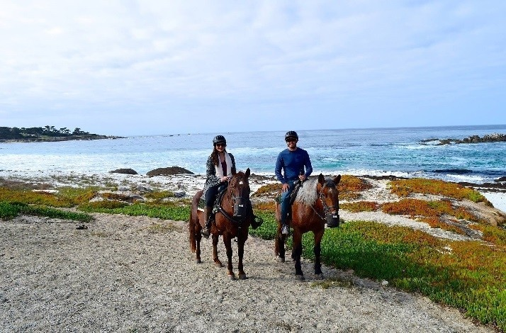 Take a guided horseback ride to Pebble Beach and have a