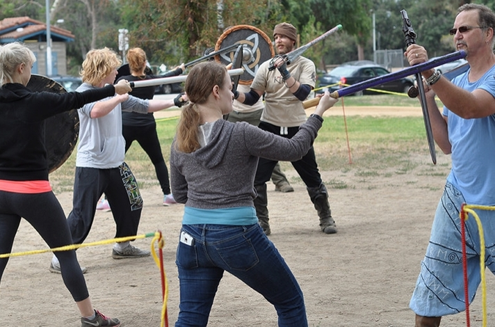 Real Medieval Swordfighting Class: In Los Angeles, California