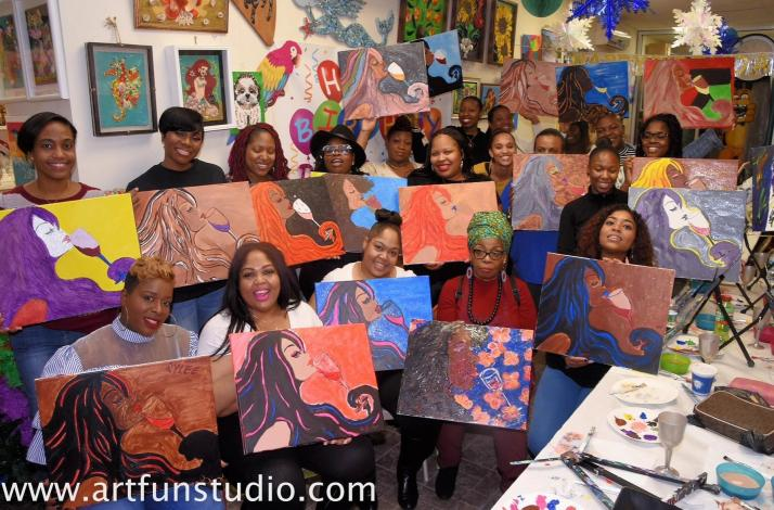 Sip And Paint Party With Award Winning Artist In Brooklyn